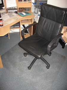 Carpet protection for desk chair